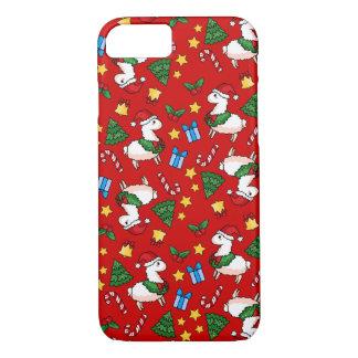 Holiday Llama Madness iPhone 7 Case