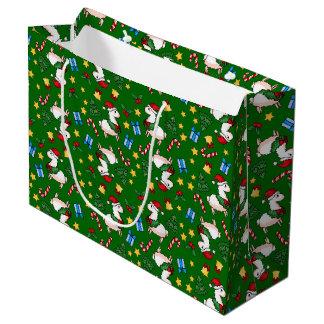 Holiday Llama Madness Large Gift Bag