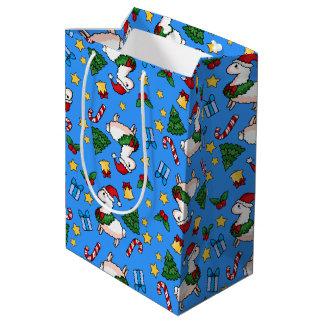 Holiday Llama Madness Medium Gift Bag