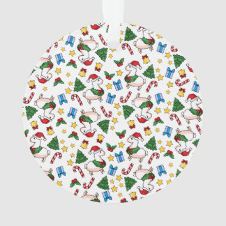 Holiday Llama Madness Ornament