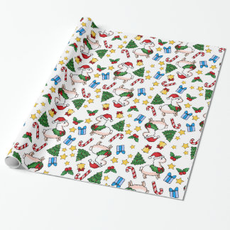 Holiday Llama Madness Wrapping Paper