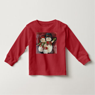 Holiday Long Sleeve Shirt - Snowman Family