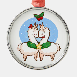 Holiday Love Llamas Christmas Ornament