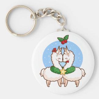 Holiday Love Llamas Key Ring