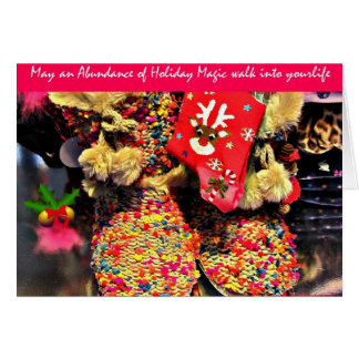 Holiday Magic Christmas booties greeting card