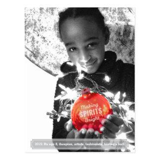 Holiday Making Spirits Bright Photo Postcard