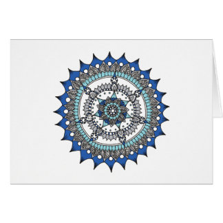 Holiday Mandala Blue Card