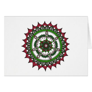 Holiday Mandala Christmas Colours Card