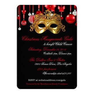 Holiday Masquerade Gala Invitations