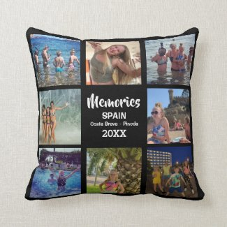 Holiday Memories Insta Photo Collage Cushion