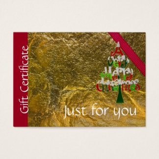 Holiday Merry Christmas Gift Certificate