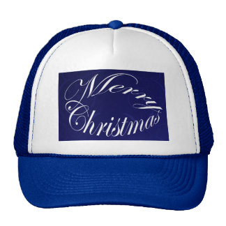 Holiday Merry Christmas Matching Blue Items Cap