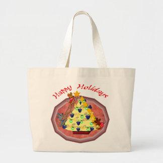Holiday Mice Gifts Jumbo Tote Bag