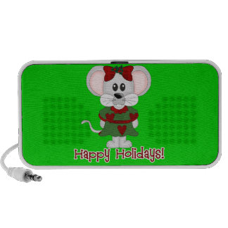 Holiday Mouse Happy Holidays! Notebook Speaker