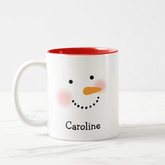 Holiday Mug | Snowman Face Mug for Her