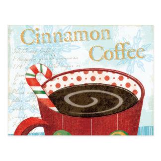 Holiday Mug with Cinnamon Coffee Postcard