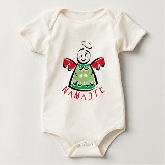 Holiday Namaste Angel Baby Bodysuit