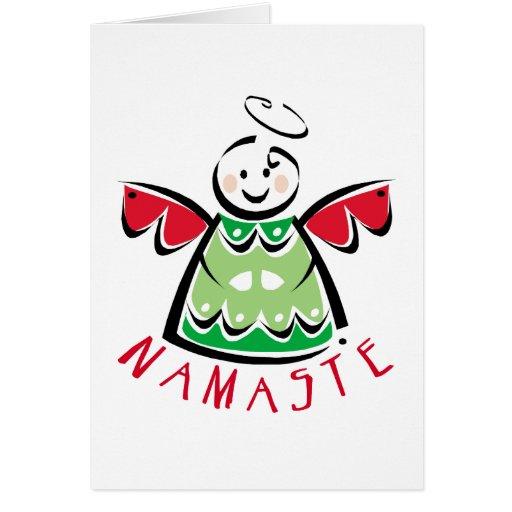 Holiday Namaste Angel Greeting Card