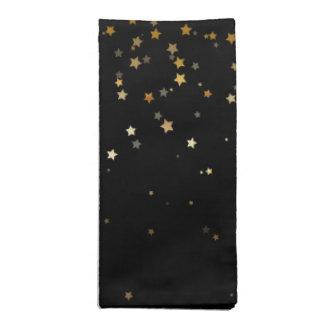 Holiday Napkins Set-Gold Stars