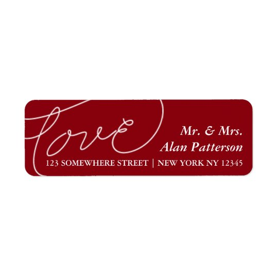 Holiday Newlywed Love Address Label