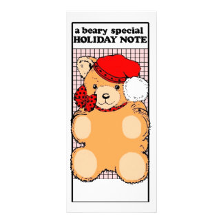 Holiday Note Personalized Rack Card