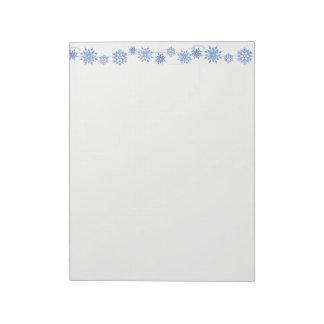 Holiday Notepad-Blue Snowflakes Notepad