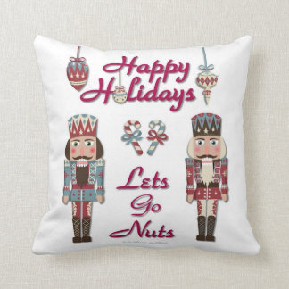 Holiday Nutcracker Lets Go Nuts Pillow Throw Cushions
