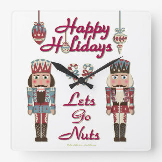 Holiday Nutcracker Lets Go Nuts Wallclocks