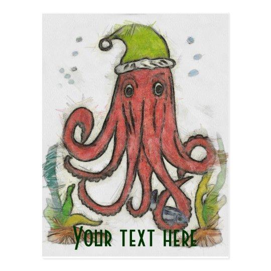 Holiday octopus Postcard