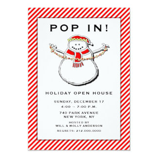 holiday open house invitations