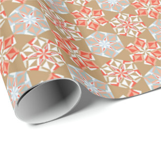 Holiday Origami Flower Gift Wrap Vintage Gold