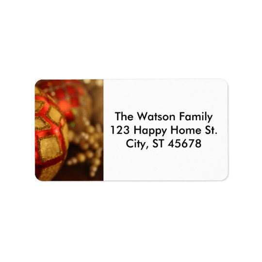 Holiday Ornament Photo for Winter Mailings Address Label