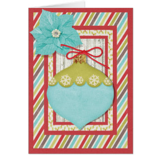 Holiday Ornament with Poinsettia Card