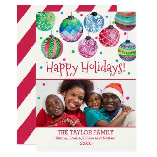 Holiday Ornaments Christmas Photo Card