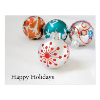 Holiday Ornaments Postcard