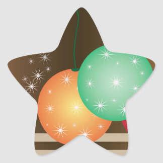 Holiday Ornaments Star Sticker