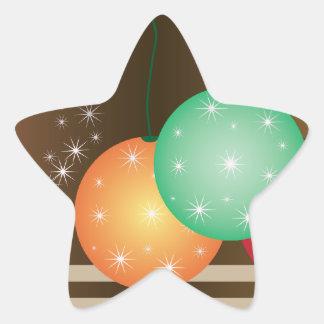 Holiday Ornaments Star Sticker