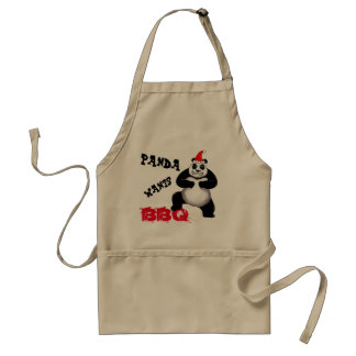 Holiday Panda Wants BBQ Apron