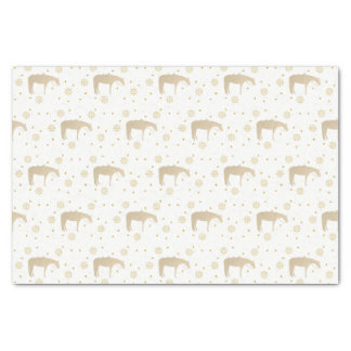 Holiday Parchment Gold White Western Horse Tissue Paper