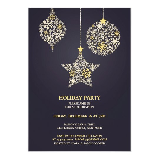 Holiday Party Flat Invitation