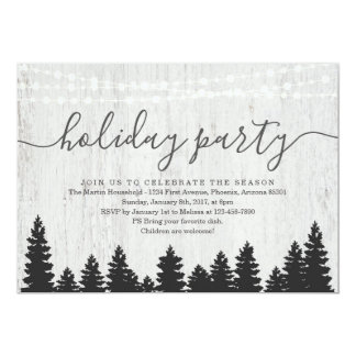 Holiday Party Invitation | Rustic Winter
