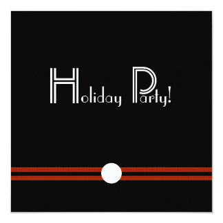 Holiday Party Retro Invite in Black and White