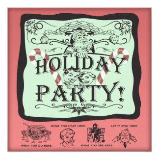 Holiday Party Santa Custom Invitation