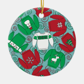 Holiday Party Sweaters Christmas Ornament