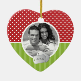 Holiday Pattern and Dog Tags Christmas Ornament
