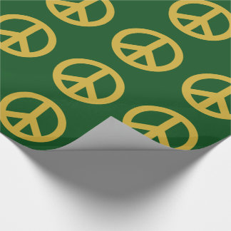 Holiday Peace Symbol Sign Wrapping Paper