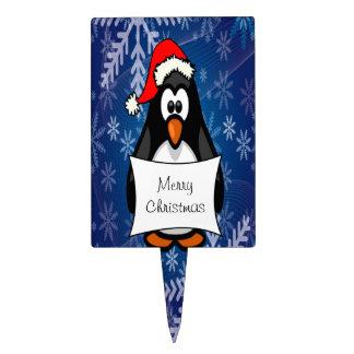 Holiday Penguin Rectangle Cake Picks