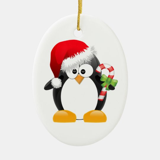 Holiday Penguin Customisable Ornaments