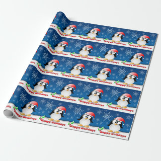 Holiday Penguin Wrapping Paper