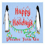 Holiday Penguins Invitation